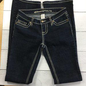 Blue Asphalt Dark Wash Boot Cut Jeans, Size 1 Long
